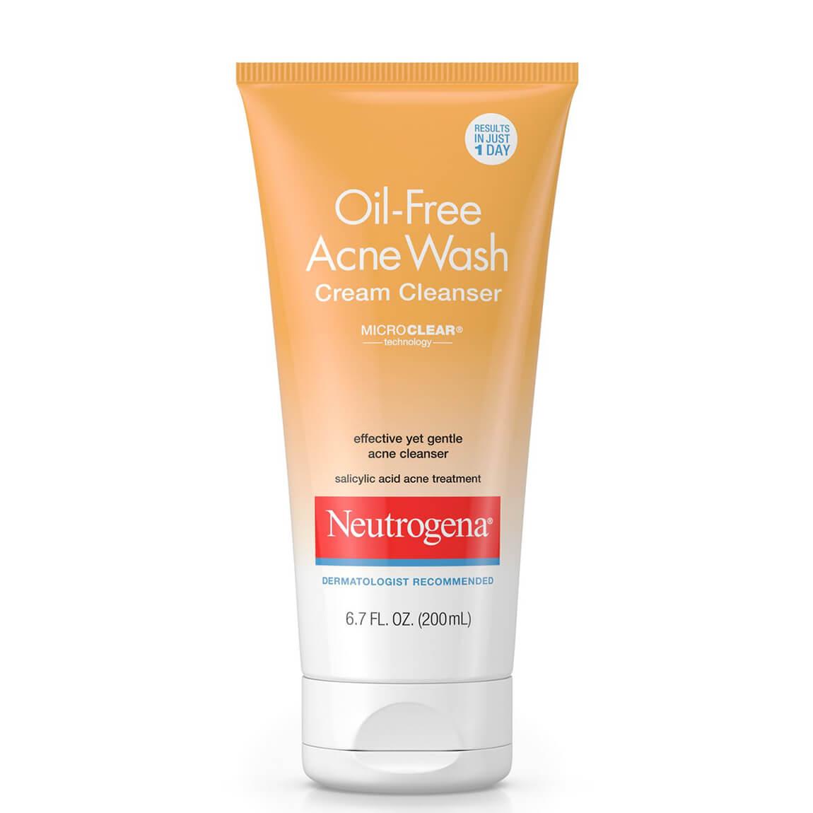 Neutrogena Oil-Free Acne Face Wash Cream Cleanser 200ml