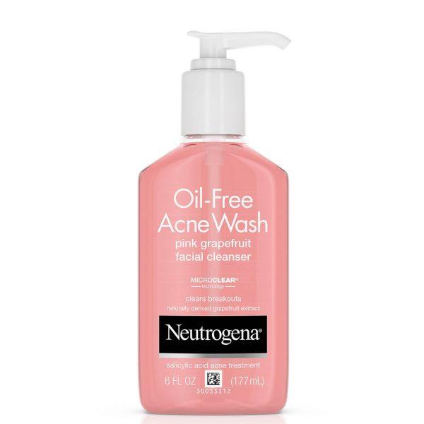 Neutrogena Oil-Free Pink Grapefruit Acne Facial Cleanser