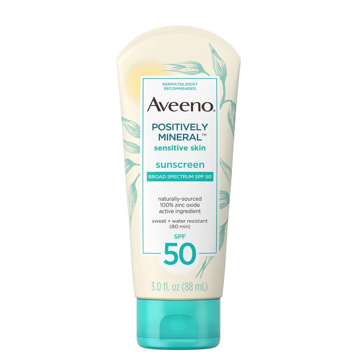 Aveeno Positively Mineral Sensitive Skin Sunscreen SPF50