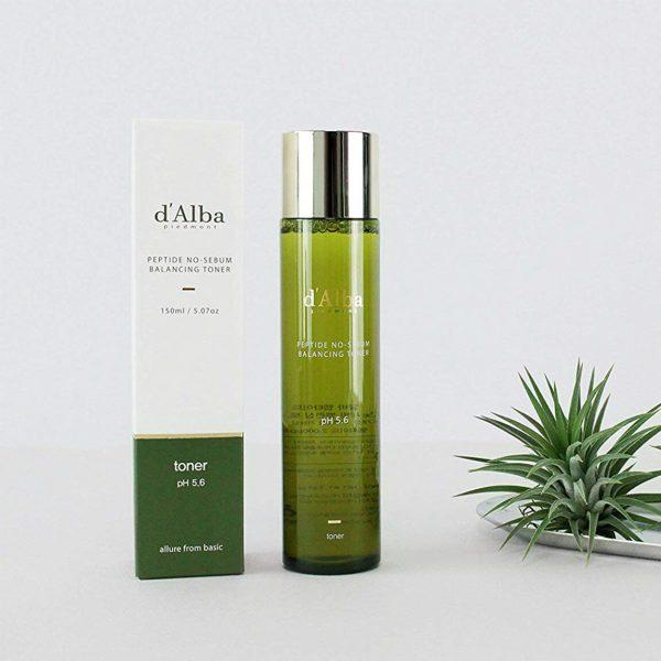 D'Alba Peptide No-Sebum Balancing Toner 150ml