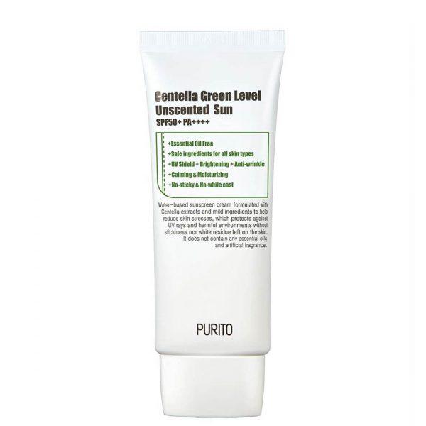 PURITO Centella Green Unscented Sunscreen SPF50+ 60ml