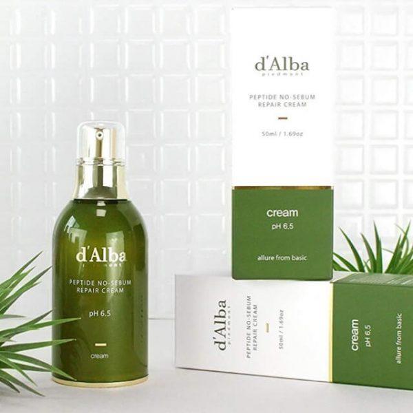 D'Alba Peptide Peptide No-Sebum Repair Cream 50ml