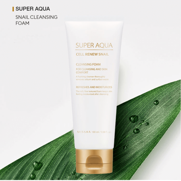 Missha Super Aqua Cell Renew Snail Cleansing Foam 100ml