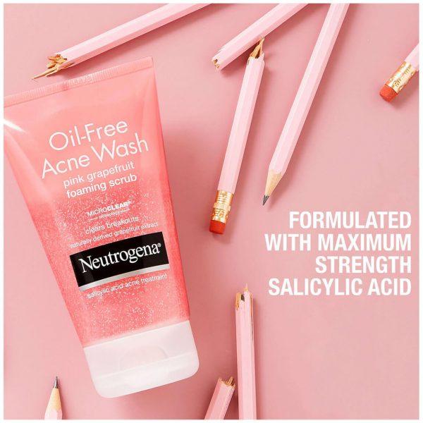 Neutrogena Oil-Free Acne Wash Pink Grapefruit Foaming Scrub 198ml