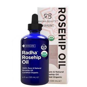 Radha Beauty Certified Organic Rosehip Oil 120ml