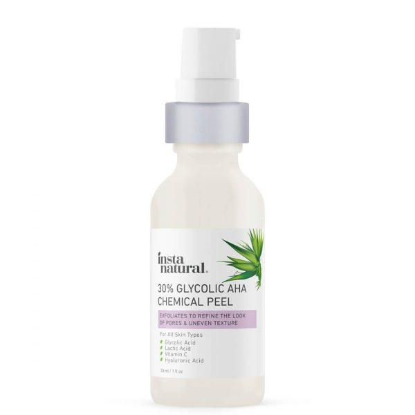 InstaNatural 30% Glycolic Acid AHA Chemical Peel 30ml