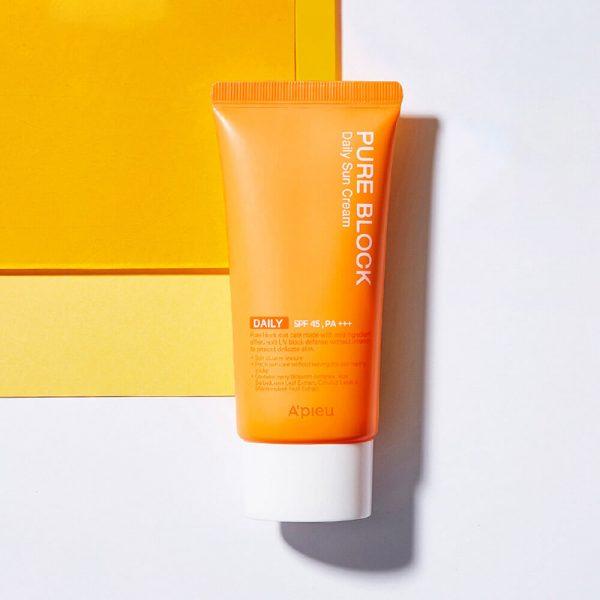 A'pieu Pure Block Natural Daily Sun Cream SPF 45 PA+++ 50ml