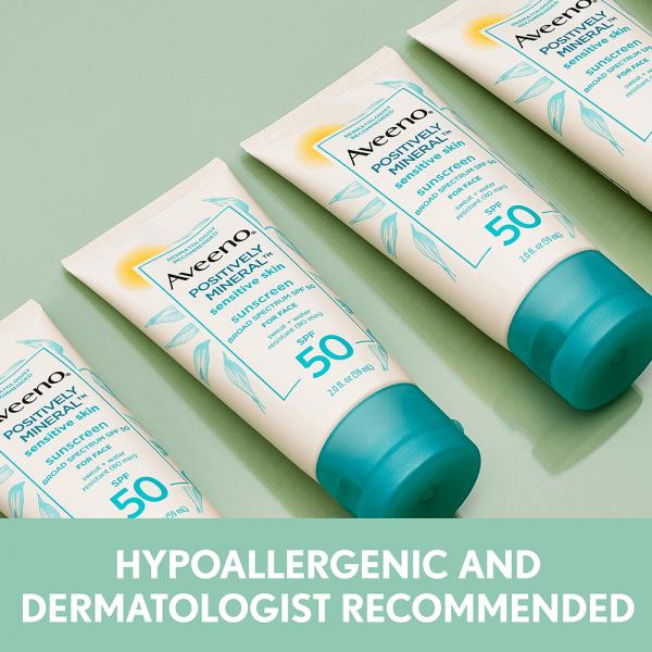 Aveeno Positively Mineral Sensitive Skin Sunscreen SPF 50