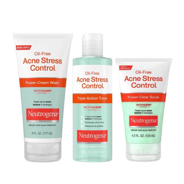 Neutrogena Oil-Free Acne Stress Control Power-Cream Wash 177ml