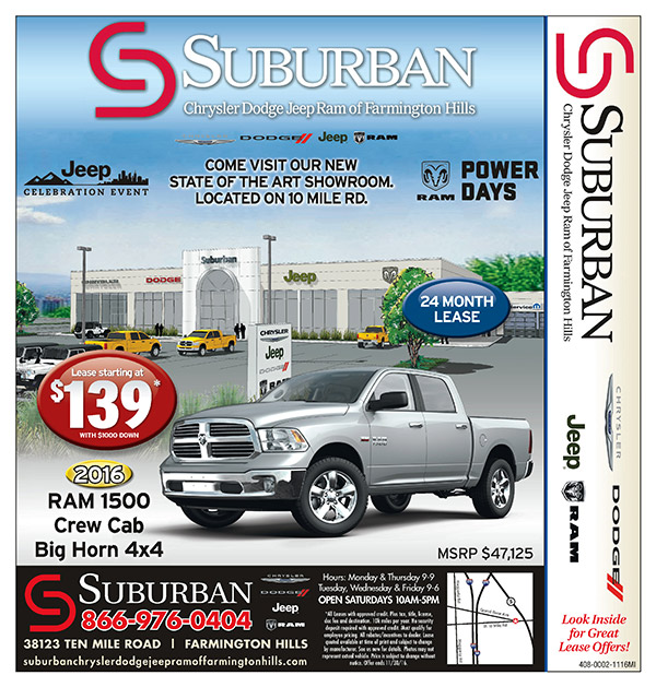 Suburban Chrysler Dodge Jeep Ram of Farmington Hills MI