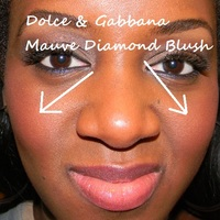 Dolce and gabbana mauve diamond blush on dark skin
