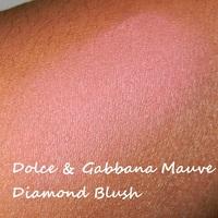 Dolce and gabbana mauve diamond blush swatch on dark skin
