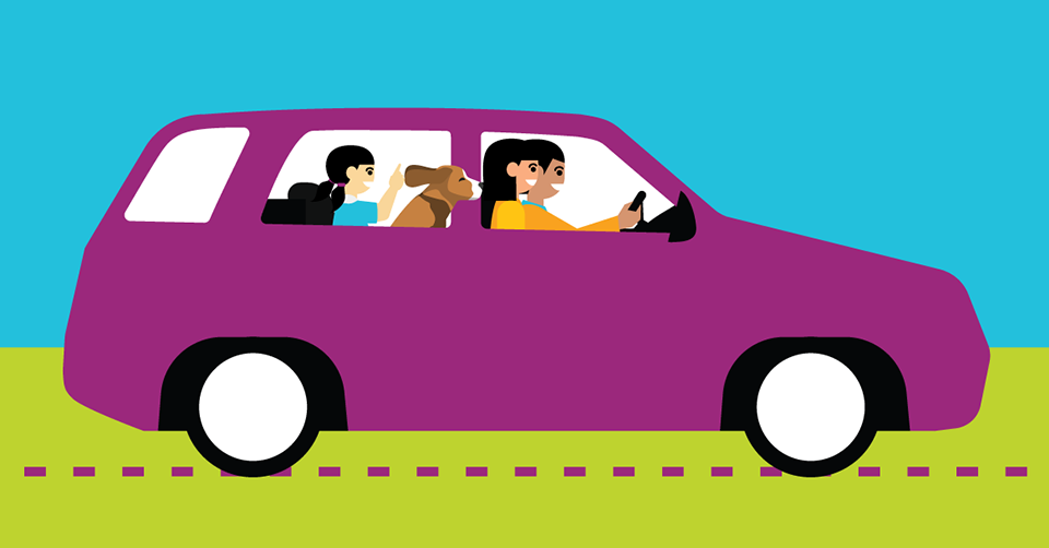 Tips for keeping kids calm in th car header