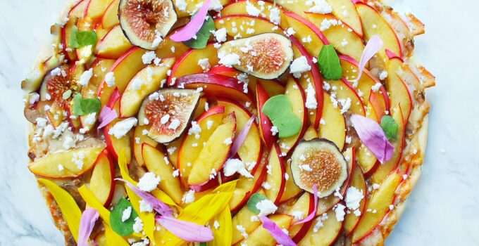 Pizza with Nectarines & Figs