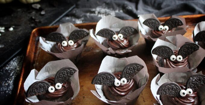 Black Magic Bat Cupcakes