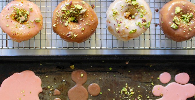 Caramel Clementine, Maple Vanilla & Salted Caramel Chocolate Baked Donuts