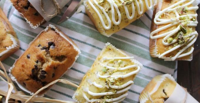 Mini Loaves – Lemon Poppy, Chocolate Chip, Banana Chip