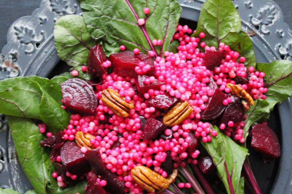 Pink couscous