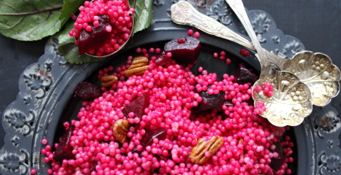 PINK BEET COUSCOUS WITH PECANS
