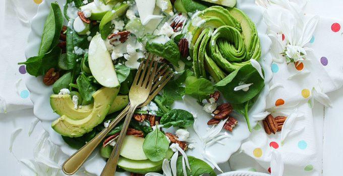 Calming Kale & Spinach Saladwith Coconut Avocado Yogurt Dressing