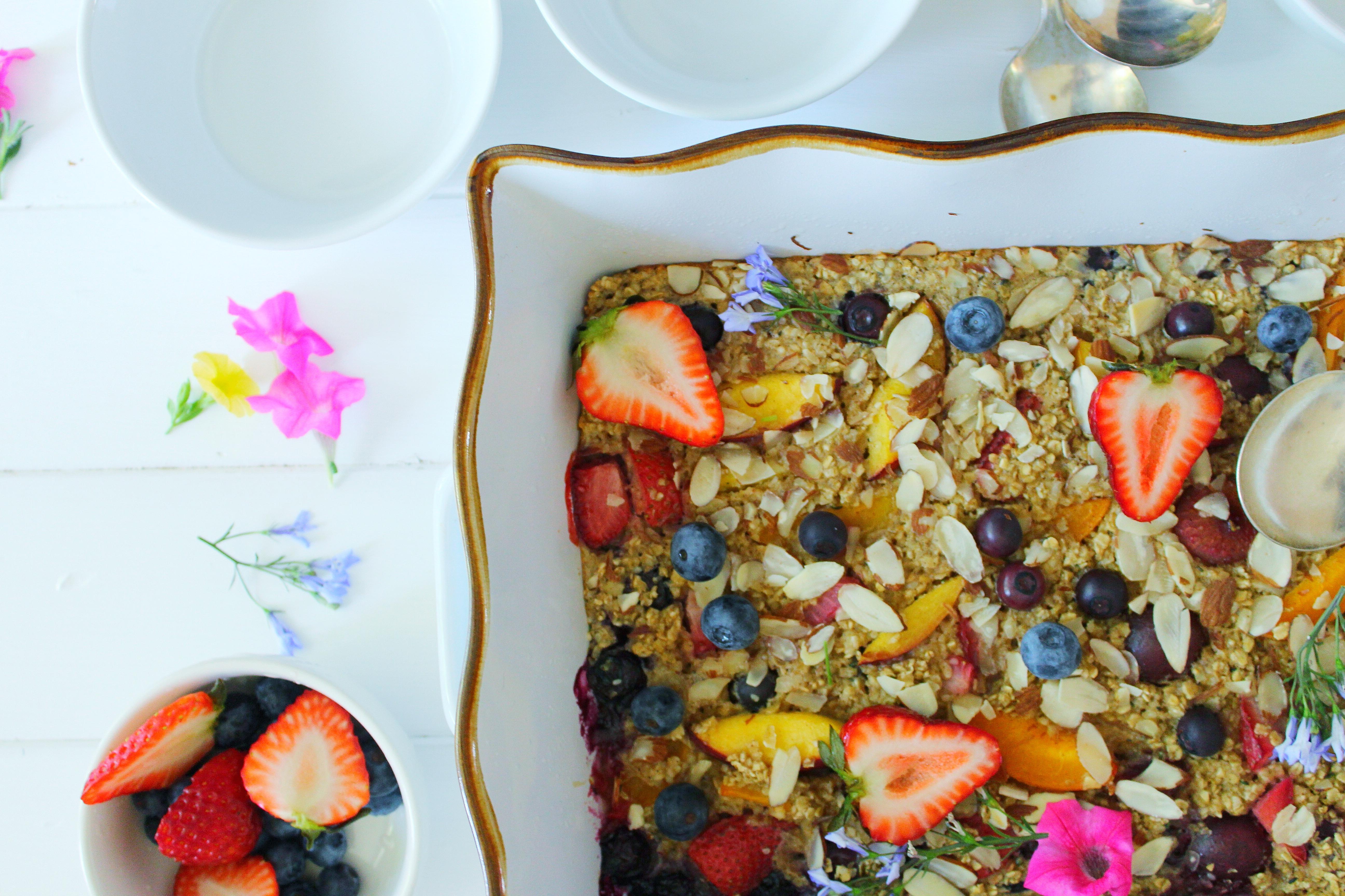 Tutti Frutti Baked Oatmeal Simply Beautiful Eating