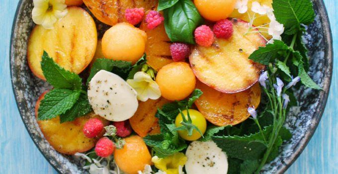 Grilled Fruit Caprese Salad