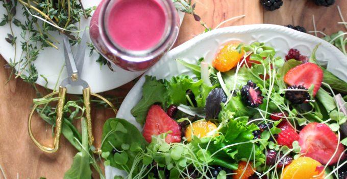 Greek Yogurt, Blackberry & Fresh Herb Dressing