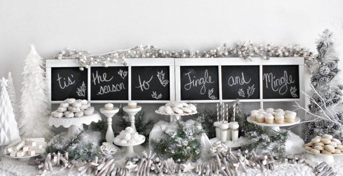 Jingle & Mingle White Dessert Bar