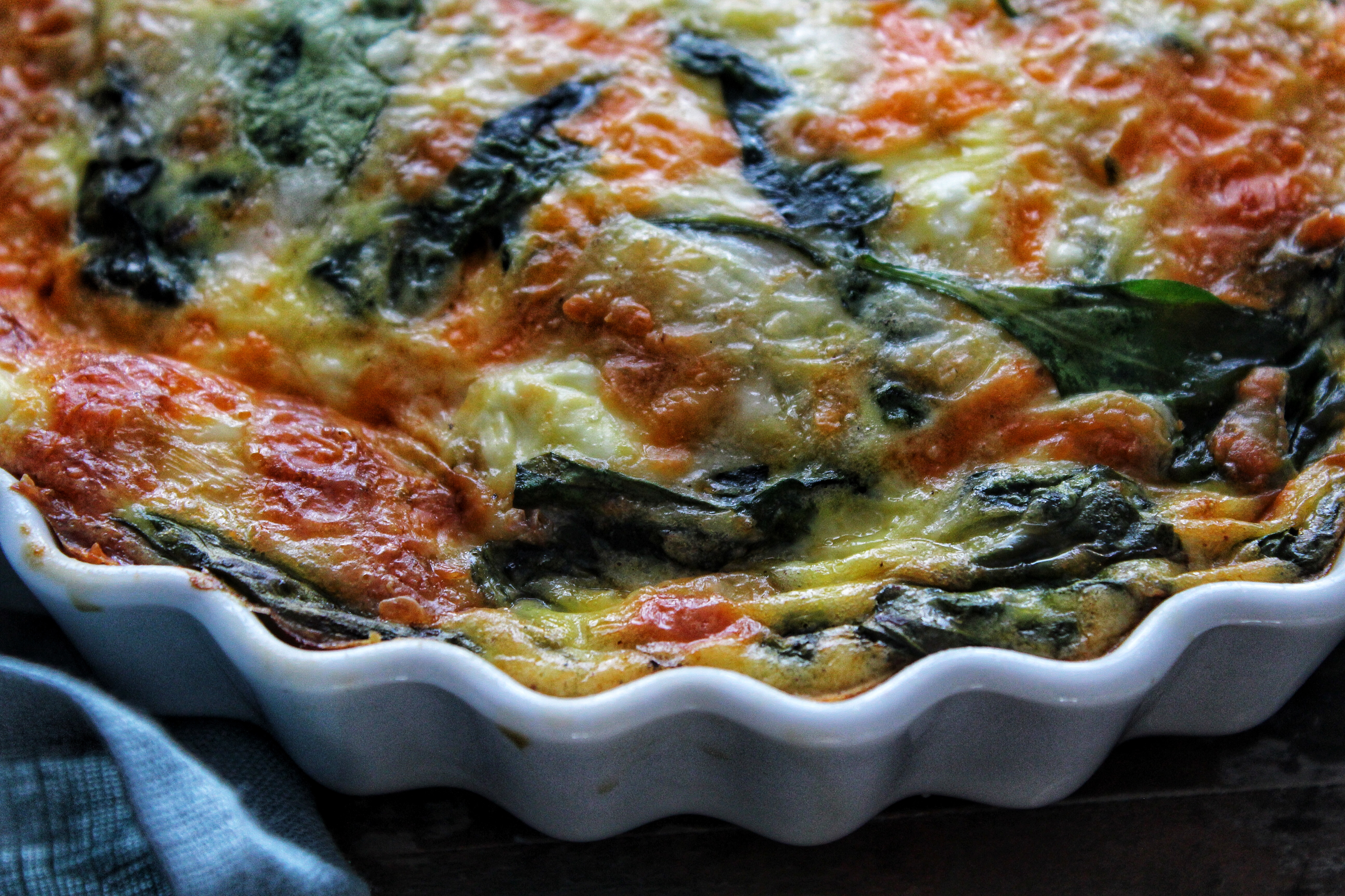 spinach cheddar and feta crustless quiche simply beautiful eating rh simplybeautifuleating com