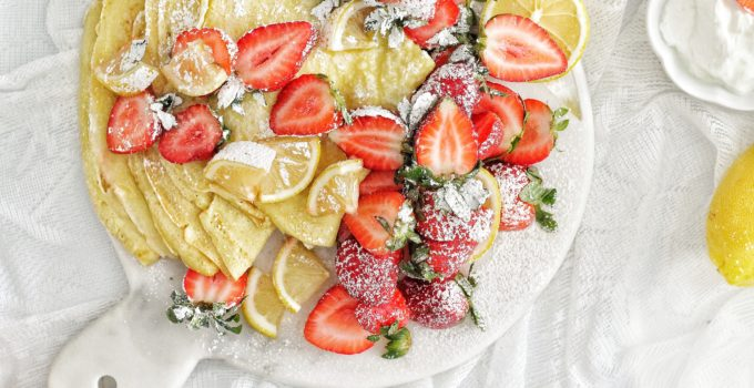 Lemon & Strawberry Crepes