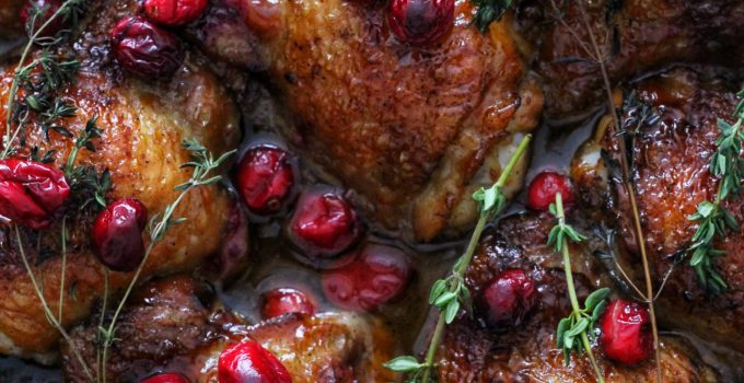 Sticky Cranberry Thyme Chicken & Food Photography Tips