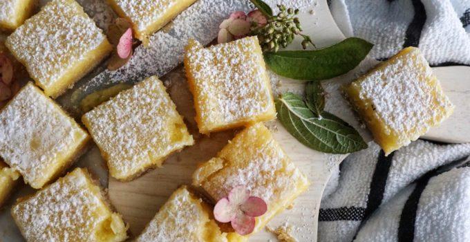 Zesty Lemon Squares with Shortbread Crust