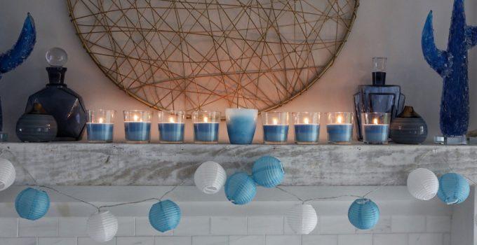 A Simply Beautiful Hanukkah Mantle + DIY Menorah