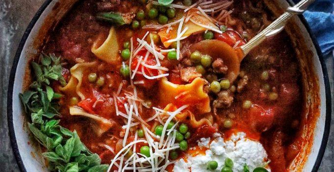 One Pot Lasagne Soup
