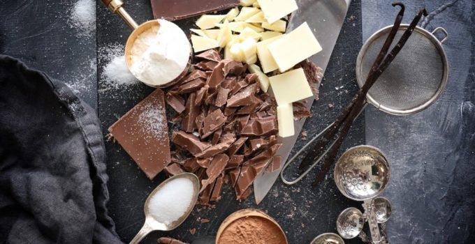 Bourbon Vanilla Bean Triple Chocolate Chunk Cookies