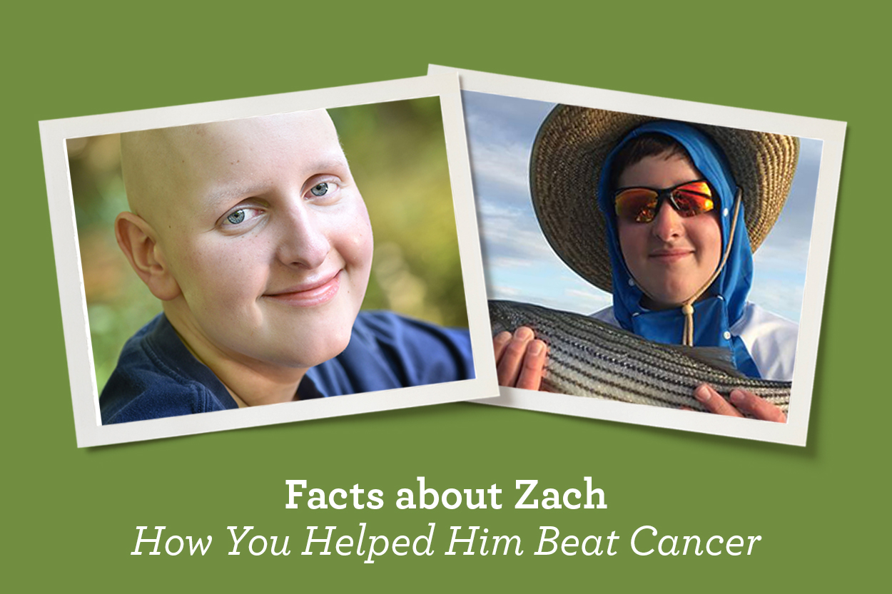Zach before and after his immunotherapy clinical trial.