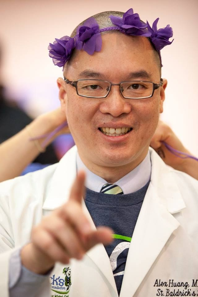 Photograph of rockstar shavee Dr. Alex Huang.