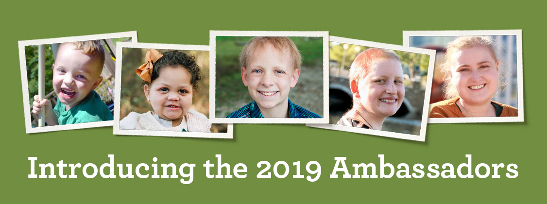 Images introducing the St. Baldrick's 2019 Ambassadors, including Aiden, Arianna, Sullivan, Gabby, and Brooke.