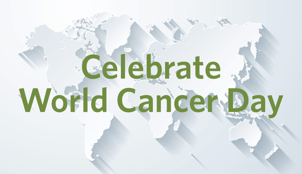 Photograph of globe for World Cancer Day 2019.