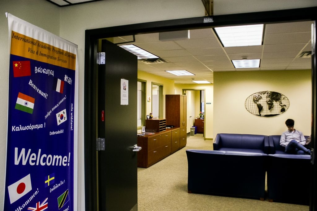 The International Student Office is located on the fifth floor of the campus' library.