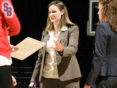 Coach Beth O'Boyle, who led the SBU Women's Basketball team for three successful years, is taking a position as head coach at VCU. (PHOTO CREDIT : AMERICA EAST)