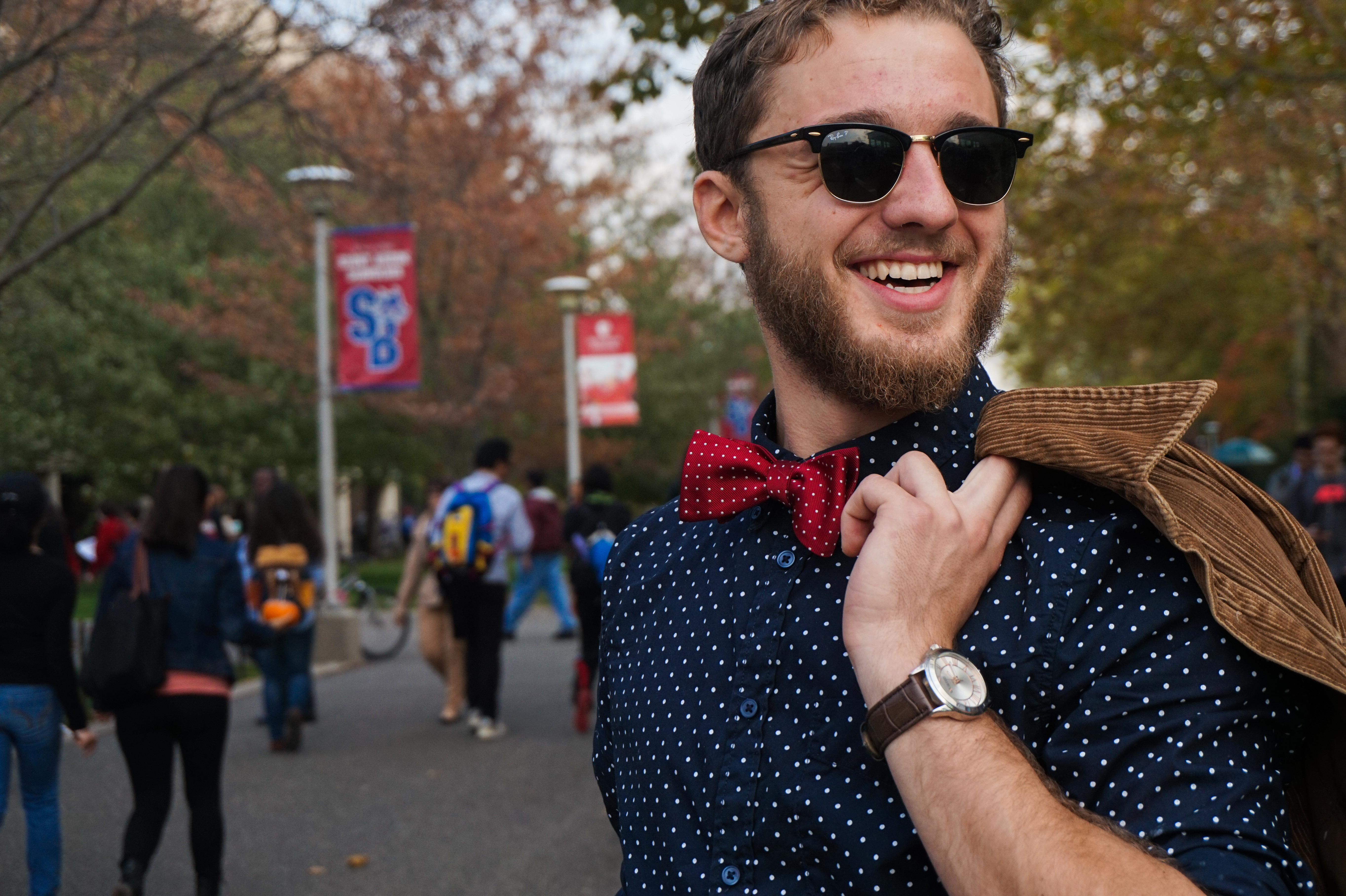 Greg Zedlovich, junior math major, poses for a photo during campus lifetime on Wednesday, Oct. 29, 2014. (HEATHER KHALIFA / THE STATESMAN)