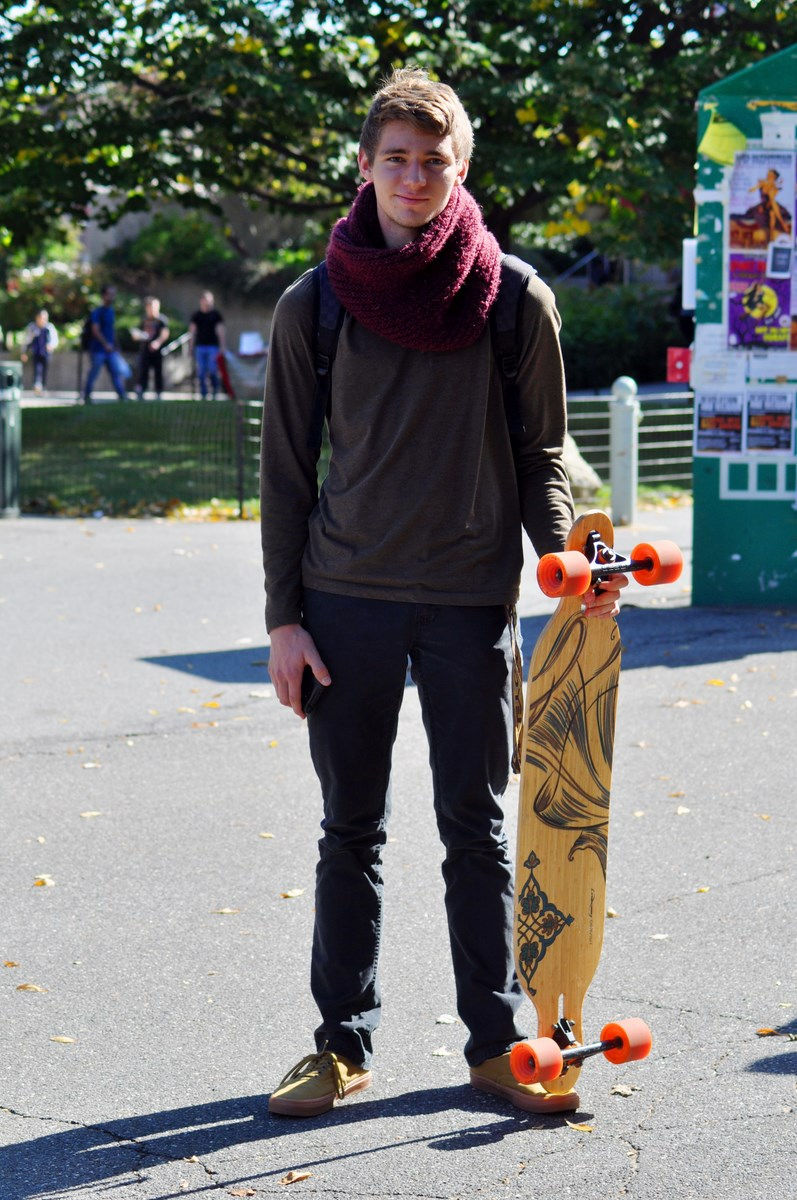 Dylan Magee, sophomore mechanical engineer major, poses for a photo on Wednesday, Oct. 8, 2014. (SAHER JAFRI / THE STATESMAN)