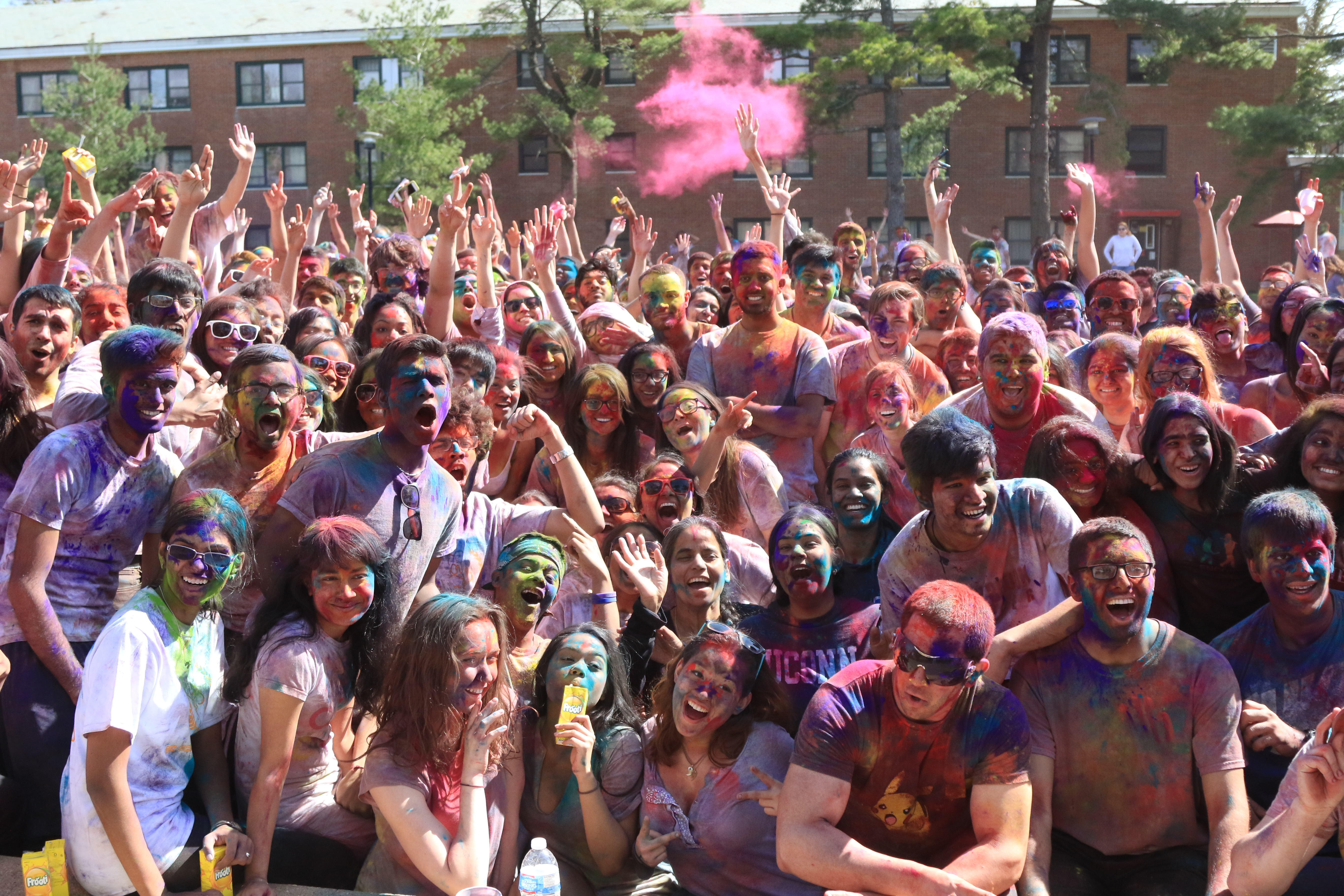 Students came out in force to celebrate Holi 2015 on April 19. BASIL JOHN / THE STATESMAN