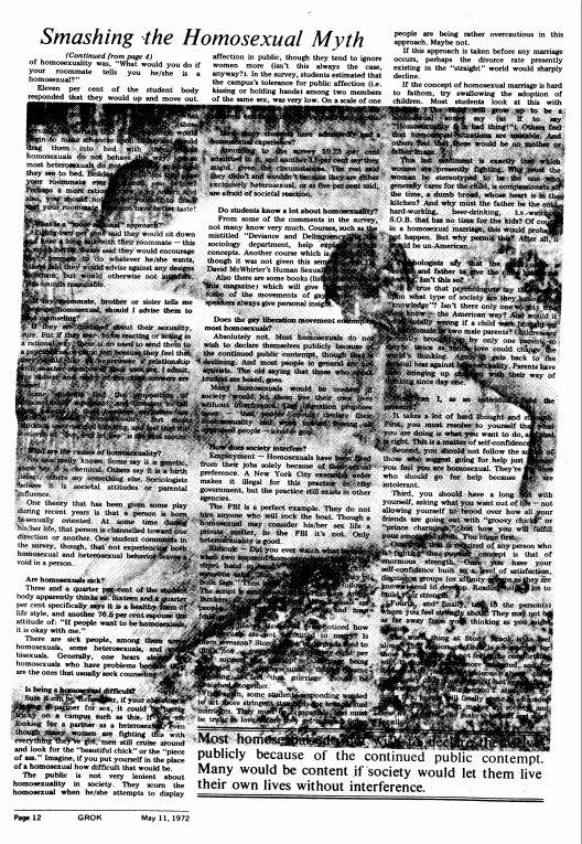 May 11, 1972: Smashing the Homosexual Myth