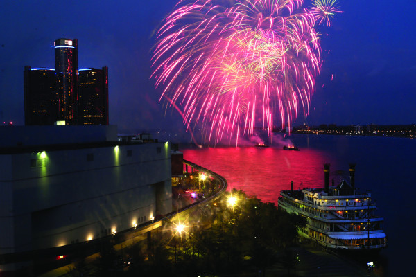 The annual Ford Fireworks festival on Monday, June 22, 2015, at Hart Plaza in Detroit. (Ryan Garza/Detroit Free Press/TNS)