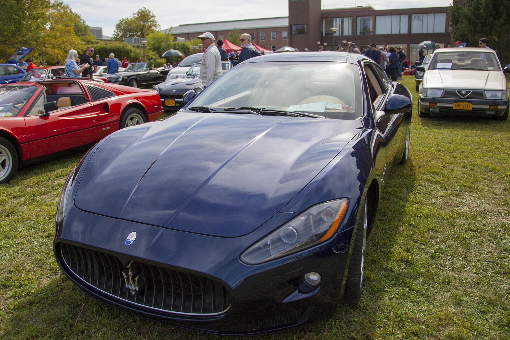 A 2009 Maserati GranTurismo 4.2L at the Concorso d'Eleganza X. GISELLE MIRANDA/THE STATESMAN