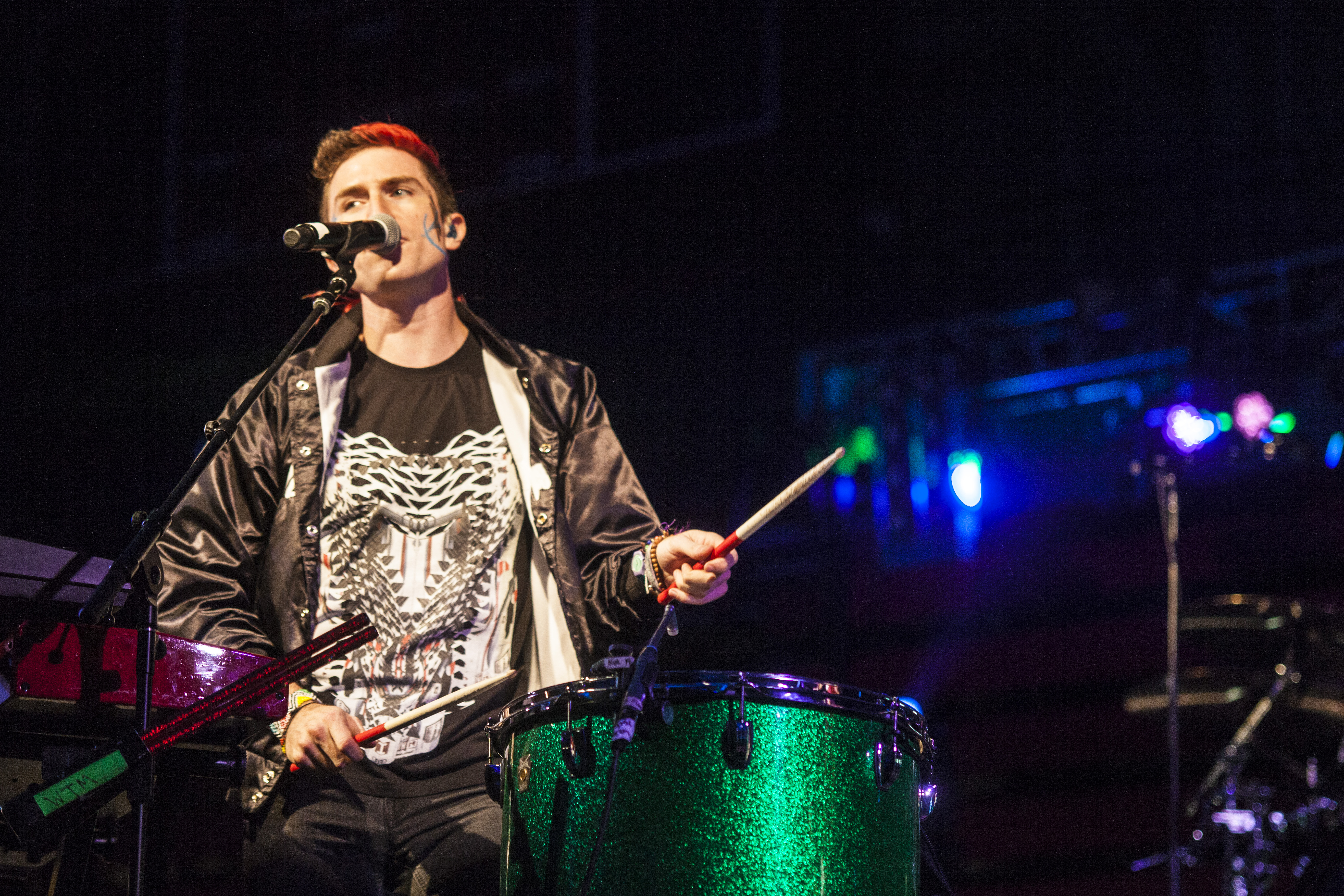 Nicholas Petricca played on the drums during his performance. KRYSTEN MASSA/THE STATESMAN