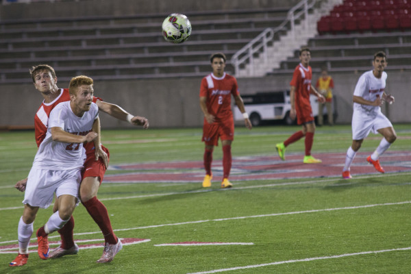 Vince Erdel (above, No. 27) sophomore forward scored the game winning goal for Stony Brook in the second over time. This was Erdel's first goal of the season. KRYSTEN MASSA/THE STATESMAN
