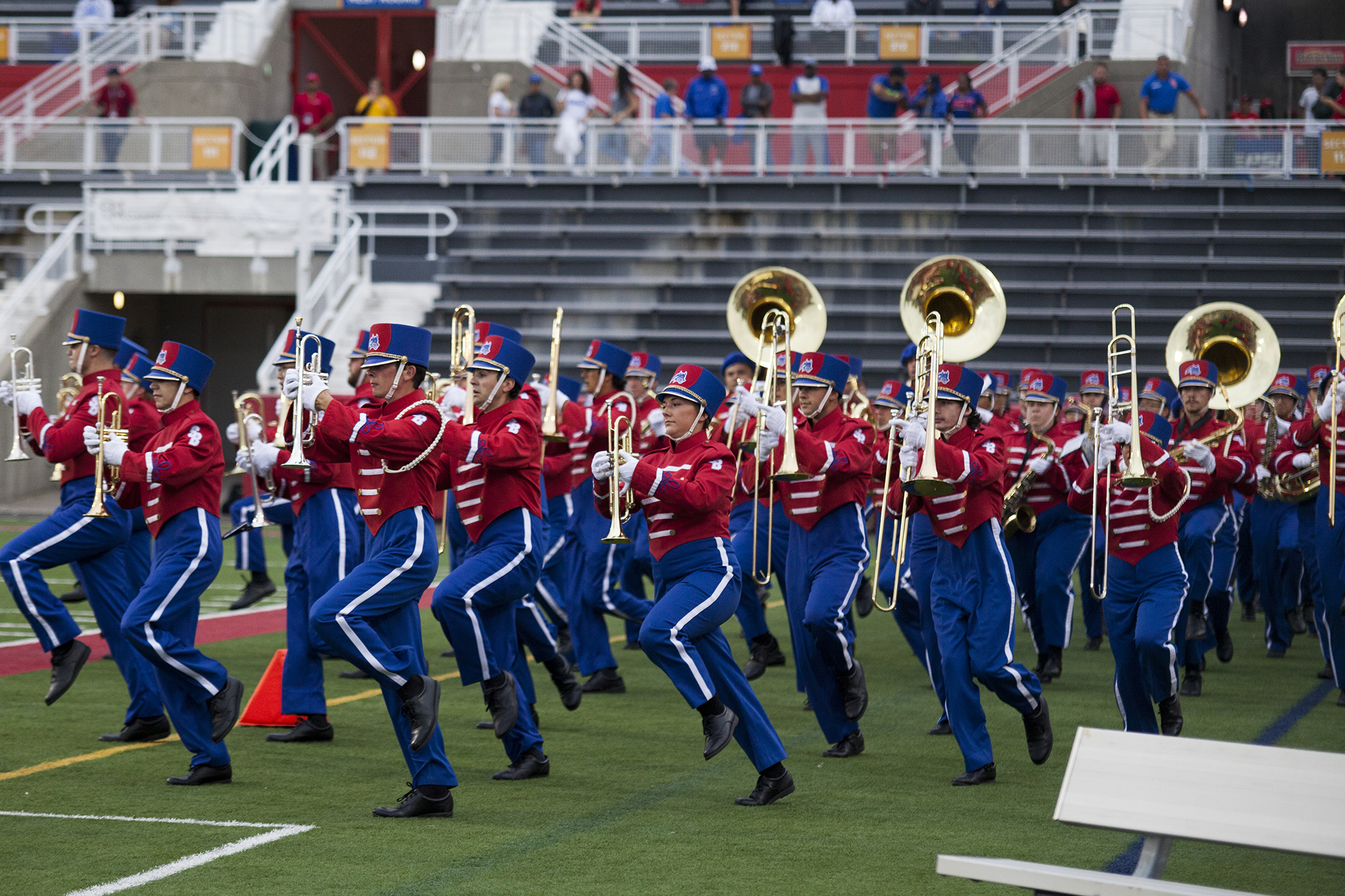 The Spirit of Stony Brook performing the Stony Brook Shuffle at the football game versus Central Connecticut on Saturday. CHRISTOPHER CAMERON/THE STATESMAN